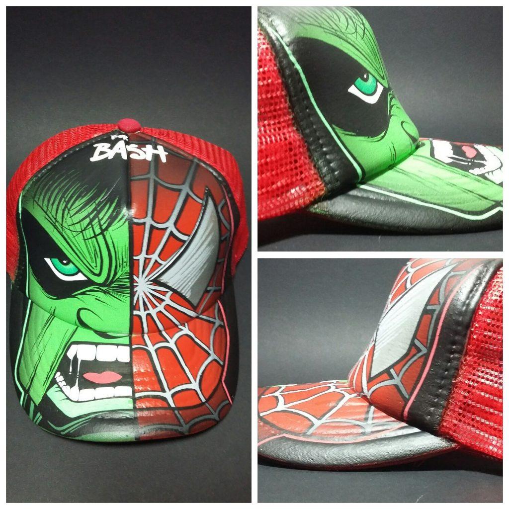 Gorra personalizada Hulk y Spiderman. - Tu gorra personalizada b806767d85e